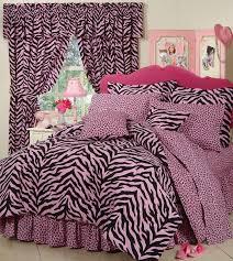 pink and black zebra bedding
