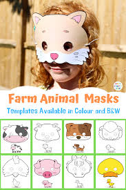 Here presented 49+ animal mask drawing images for free to download, print or share. Printable Farm Animal Masks For Kids Arty Crafty Kids