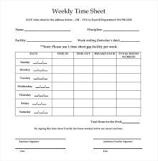 Free Printable Templates Weekly Employee Time Sheet Timecard