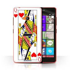 Stuff4 Case Cover For Microsoft Lumia 540 Colour Queen Of Hearts