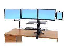 ergotron monitor stand height adjustment ergotron lx sit stand desk mount lcd arm ergotron ds series