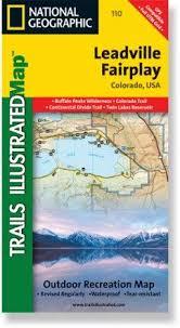 Colorado Mileage Chart Leadville Fairplay Topographic Map Media Books