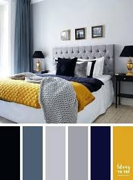 navy blue yellow and grey bedroom best