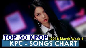 Top 50 Kpop Songs Chart March Week 1 2018 Kpop Chart Kpc