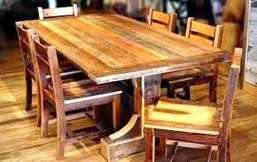rustic solid wood dining table reclaimed wood dining room sets rustic wooden dining room tables reclaimed