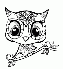Cute Owl Coloring Pages Coloring Home