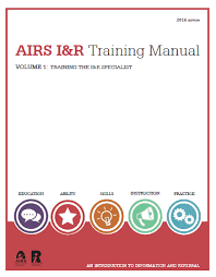 Training Manual Template Airs I R Training Manual Alliance Of Information And Referral Systems