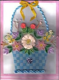 Paper Quilling Flower Baskets Quilled Flower Basket
