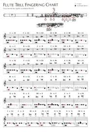 Flute Trill Chart 3rd Octave 25 Systematic Flute Fingering Chart Printable