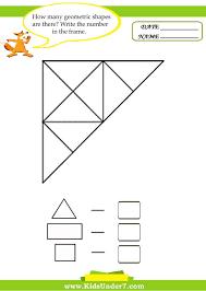 3d Shapes Worksheets 2nd Grade Printable Geometry For Kindergarten ...