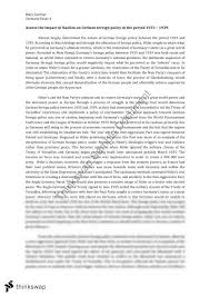 nazi foreign policy essay year hsc modern history thinkswap nazi foreign policy essay
