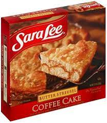 Made with moist layers of hand twisted danish pastry swirled with a rich buttery filling, sara lee® butter streusel coffee cake has a luscious texture and rich flavor the whole family will love. Sara Lee Butter Streusel Coffee Cake 11 5 Oz Nutrition Information Innit