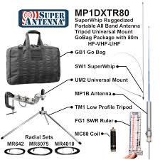 mp1dxtr80 superwhip ruggedized tripod antenna with go bag all band hf vhf antenna package mp1b