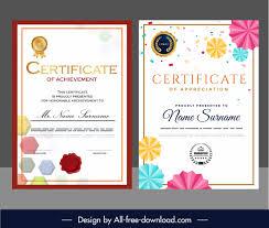 Download Award Certificate Templates Award Certificate Templates Elegant Colorful Geometric