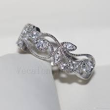 Flower Design Diamond Ring 2019 Vecalon Brand Flower Design Women Jewelry Ring Topaz Cz Diamond 925 Sterling Silver Engagement Wedding Band Ring For Women Gift From High_luxury