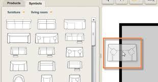 Standard Office Furniture Symbols On Floor Plans Stock Vector Furniture Icons For Floor Plans