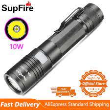 Đèn Pin Supfire A5 L2 10W Mạnh Mẽ Đèn Pin Sạc USB Tốt Nhất Cho Cắm Trại Câu  Cá Lồng Đèn Tự Vệ Chiếu Sáng Ngoài Trời Đèn Pin LED|Đèn Pin LED