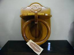 wooden towel ring hanger and toilet roll holder