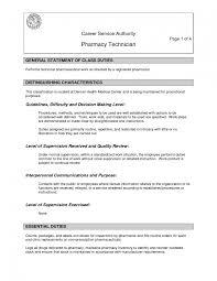 Nurse Tech Job Description Resume Pharmacy Technician Job Description For Resume Pharmacy Technician 21