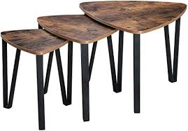 VASAGLE Industrial Nesting Coffee Table, Set of 3 ... - Amazon.com