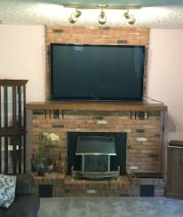 best paint colours for pink brick fireplace