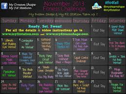 November Workout Calendar ! - My Dream Shape!