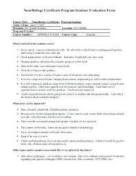 Course Evaluation Template Event Training Science Experiment Risk ...