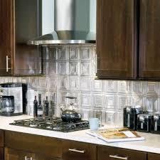 Contemporary Kitchen with Metal Backsplash