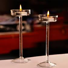 classic glass candle holders wedding bar decor goblet tall candlesticks
