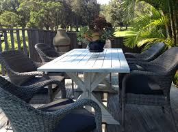 outdoor dining aluminium vogue wicker es deck