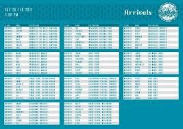 Table Chart Design Printable Menu and Chart