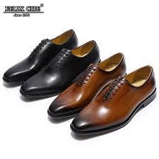 men s flat wholecut oxford genuine leather fashion dress brown black wedding shoes male formal heels shoe man shoes felix chu casual shoes for men mens