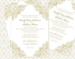 Baroque Wedding Invitations Diy Wedding Invitation Printable Template 5x7 Invitation 2312864