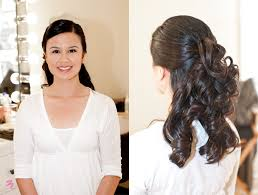 wavy loose curls, half up half down professional wedding makeup Down Wedding Hair And Makeup wavy loose curls, half up half down Wedding Hairstyles