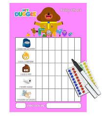 Girls Learn To Potty Train Reward Chart Pink Hey Duggee Sticker