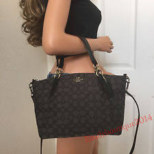 item 6 NWT COACH BLACK SIGNATURE LEATHER SMALL SATCHEL TOTE SHOULDER BAG  HANDBAG PURSE -NWT COACH BLACK SIGNATURE LEATHER SMALL SATCHEL TOTE  SHOULDER BAG ...
