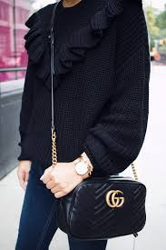 gucci bags at nordstrom. ruffle sweater, nordstrom sweaters, gucci bag, black booties, fall style bags at s