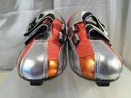 Carnac Shoe Size Chart Carnac Helios Road Cycling Shoes Silver Orange Uk Size 6