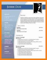Resume Templates For Microsoft Word 2007 Gorgeous CV Format Port By Port