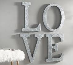 hanging galvanized letters wall art m