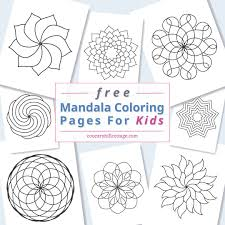 These mandalas, with their patterns that flow and swirl, are especially helpful in this makes it easy if you're new to coloring mandalas or if you're looking for something a bit challenging. Mandala Coloring Pages For Kids 10 Free Printable Worksheets
