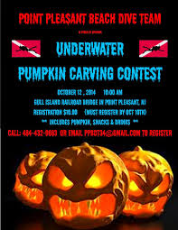 pumpkin carving contest flyer point pleasant beach rescue dive team 2014 underwater pumpkin