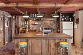 agreeable kitchen building home oak wood island with rustic kitchen along slate tile also brown wooden agreeable home bar design