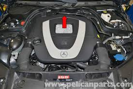 The air mass information from the mercedes air mass sensor is important for delivering the correct amount of gasoline to the combustion chamber. Mercedes Benz W204 Maf Sensor Replacement 2008 2014 C250 C300 C350 Pelican Parts Diy Maintenance Article