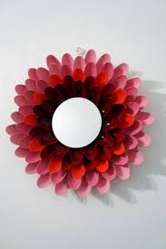 Spoon Mirror Diy Flower Mirror Made With Plastic Spoons