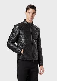 quilted lambskin nappa leather jacket