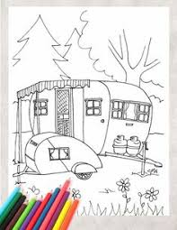 Small Picture Instant Download Vintage Travel Trailer Printable Coloring