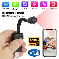 HD 1080P Mini Thông Minh Wifi USB Camera Di Động Thời Gian Thực An Ninh Máy  Quay Hỗ Trợ TF Thẻ Ghi Phát Hiện Chuyển Động camera Mini|Máy Quay Mini