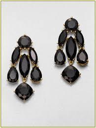 kate spade black chandelier earrings