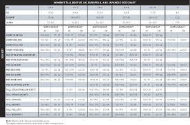 International Women S Size Chart Bright International Measurement Chart International